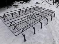 Багажник на УАЗ 452 пролёт, 12 опор с траками (сетка 50*50)