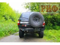 Калитка РИФ с фаркопом в штатный задний бампер Toyota Land Cruiser 105