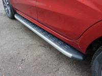 Пороги алюминиевые XRay с пласт.накладкой (карбон)